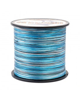 Плетеный шнур Hercules 8X синий камуфляж 500 м, D 0,55 45 кг